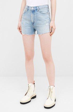 Женские джинсовые шорты CITIZENS OF HUMANITY голубого цвета, арт. 993-1136   Фото 3