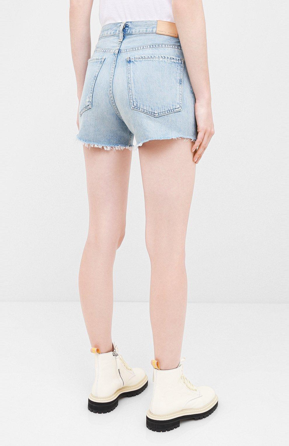 Женские джинсовые шорты CITIZENS OF HUMANITY голубого цвета, арт. 993-1136   Фото 4