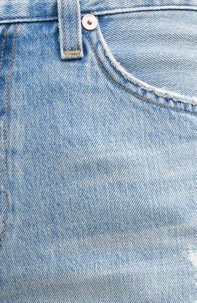 Женские джинсовые шорты CITIZENS OF HUMANITY голубого цвета, арт. 993-1136   Фото 5