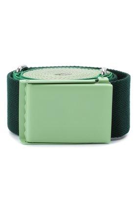Женский текстильный ремень LACOSTE зеленого цвета, арт. RC2032 | Фото 1