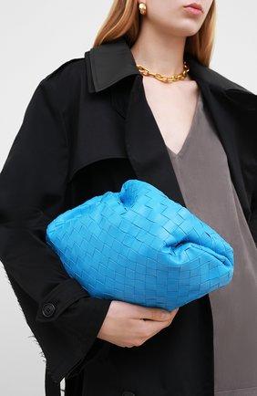 Женский клатч pouch BOTTEGA VENETA синего цвета, арт. 576175/VCPP0 | Фото 2