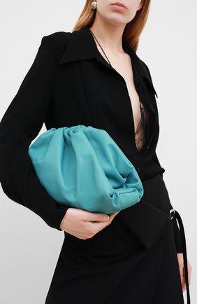 Женский клатч pouch BOTTEGA VENETA голубого цвета, арт. 576227/VCP40 | Фото 2