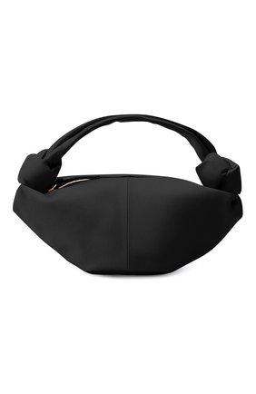 Женская сумка double knot mini BOTTEGA VENETA черного цвета, арт. 629635/VCP41   Фото 1 (Материал: Натуральная кожа; Сумки-технические: Сумки top-handle; Размер: mini)