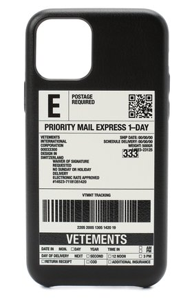 Мужской чехол для iphone 11 pro VETEMENTS черного цвета, арт. UAH21AC283 1373/W/IPH0NE 11 PR0 | Фото 1