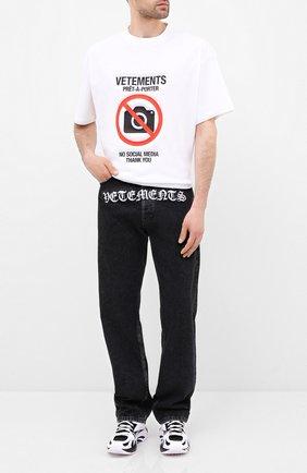Женская хлопковая футболка VETEMENTS белого цвета, арт. UAH21TR546 1600/M | Фото 2