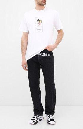 Женская хлопковая футболка VETEMENTS белого цвета, арт. UAH21TR686 1600/M | Фото 2