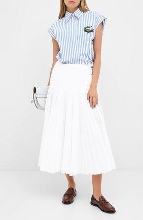 Женская юбка LACOSTE белого цвета, арт. JF1458 | Фото 2