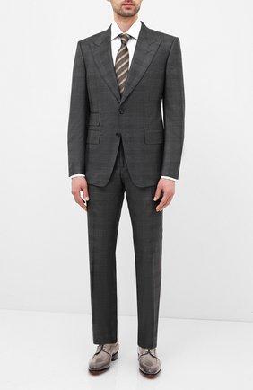 Мужской шерстяной костюм TOM FORD серого цвета, арт. 0R6456/21AL43 | Фото 1