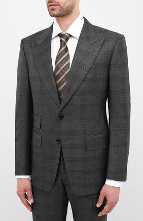 Мужской шерстяной костюм TOM FORD серого цвета, арт. 0R6456/21AL43 | Фото 2