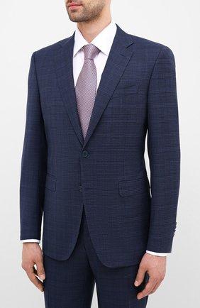 Мужской шерстяной костюм CANALI синего цвета, арт. 19220/93/BR02785 | Фото 2