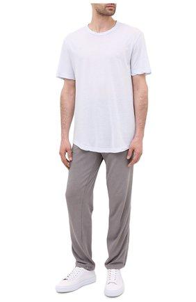 Мужская хлопковая футболка JAMES PERSE светло-голубого цвета, арт. MKJ3360 | Фото 2