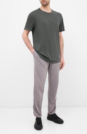 Мужская хлопковая футболка JAMES PERSE хаки цвета, арт. MKJ3360 | Фото 2