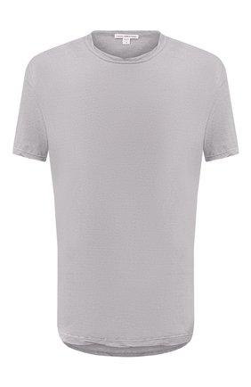 Мужская хлопковая футболка JAMES PERSE светло-серого цвета, арт. MKJ3360 | Фото 1