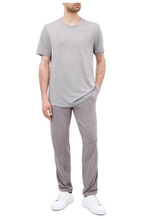 Мужская хлопковая футболка JAMES PERSE светло-серого цвета, арт. MKJ3360 | Фото 2