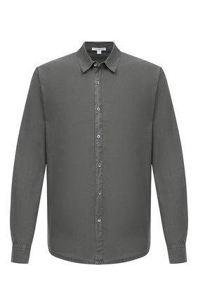 Мужская хлопковая рубашка JAMES PERSE хаки цвета, арт. MLC3408 | Фото 1
