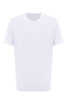 Мужская хлопковая футболка JAMES PERSE светло-голубого цвета, арт. MLJ3311 | Фото 1