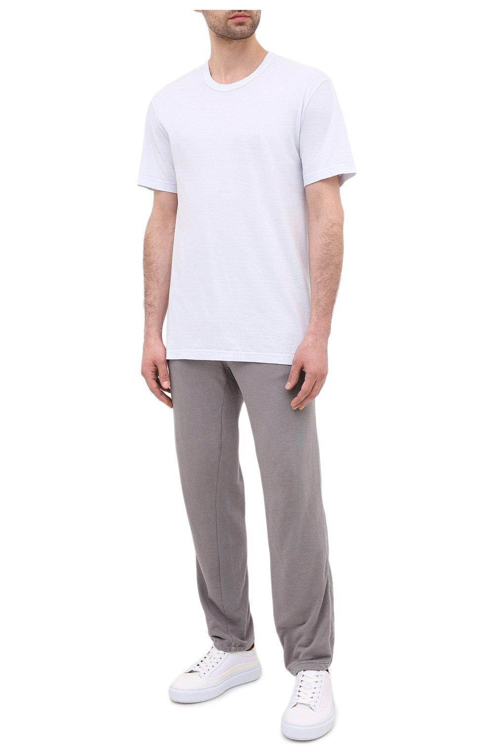 Мужская хлопковая футболка JAMES PERSE голубого цвета, арт. MLJ3311 | Фото 2