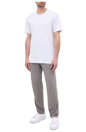 Мужская хлопковая футболка JAMES PERSE светло-голубого цвета, арт. MLJ3311 | Фото 2