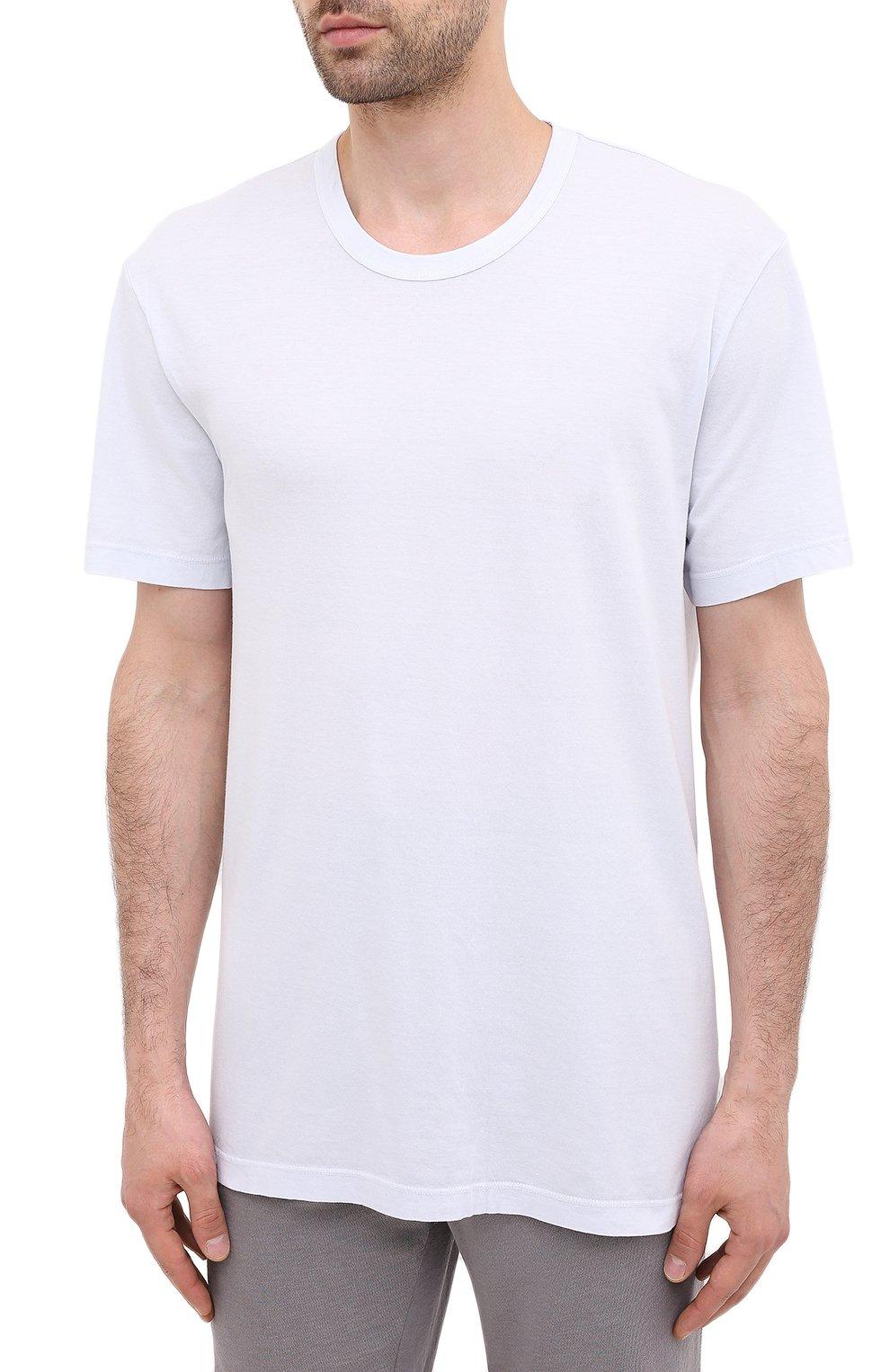 Мужская хлопковая футболка JAMES PERSE голубого цвета, арт. MLJ3311 | Фото 3