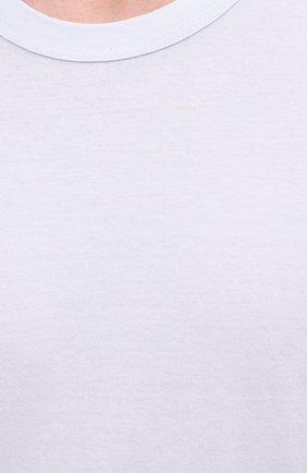 Мужская хлопковая футболка JAMES PERSE голубого цвета, арт. MLJ3311 | Фото 5