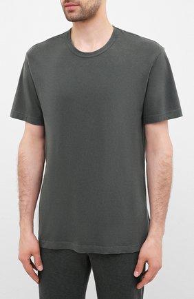 Мужская хлопковая футболка JAMES PERSE хаки цвета, арт. MLJ3311 | Фото 3