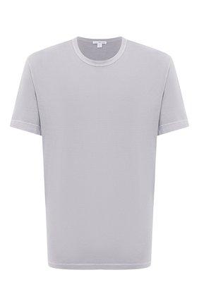 Мужская хлопковая футболка JAMES PERSE светло-серого цвета, арт. MLJ3311 | Фото 1
