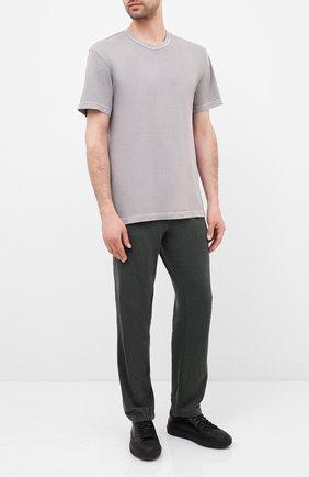 Мужская хлопковая футболка JAMES PERSE светло-серого цвета, арт. MLJ3311 | Фото 2