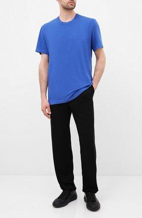 Мужская хлопковая футболка JAMES PERSE синего цвета, арт. MLJ3311 | Фото 2