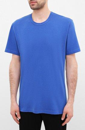 Мужская хлопковая футболка JAMES PERSE синего цвета, арт. MLJ3311 | Фото 3