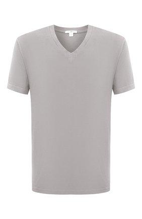 Мужская хлопковая футболка JAMES PERSE светло-серого цвета, арт. MLJ3352 | Фото 1
