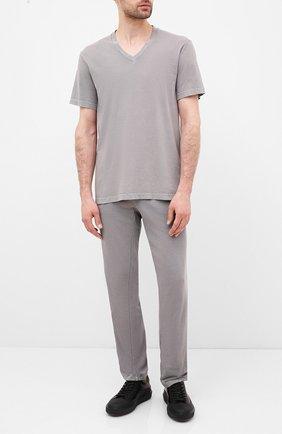 Мужская хлопковая футболка JAMES PERSE светло-серого цвета, арт. MLJ3352 | Фото 2