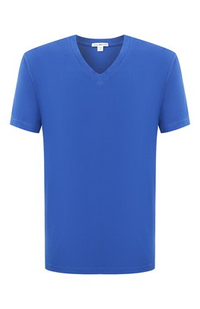 Мужская хлопковая футболка JAMES PERSE синего цвета, арт. MLJ3352 | Фото 1