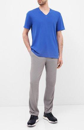 Мужская хлопковая футболка JAMES PERSE синего цвета, арт. MLJ3352 | Фото 2