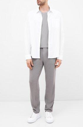 Мужская хлопковая рубашка JAMES PERSE белого цвета, арт. MC0E3374 | Фото 2