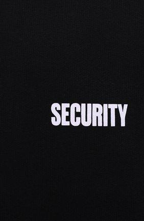 Мужской хлопковый свитшот VETEMENTS черного цвета, арт. UAH21TR528 1601/M | Фото 5