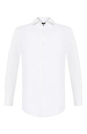 Мужская хлопковая сорочка BOSS белого цвета, арт. 50433274 | Фото 1