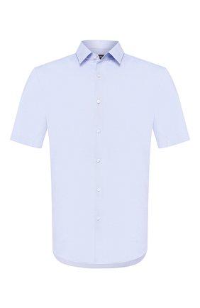 Мужская хлопковая сорочка BOSS голубого цвета, арт. 50433276 | Фото 1