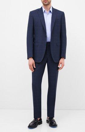 Мужская хлопковая сорочка BOSS голубого цвета, арт. 50433276 | Фото 2