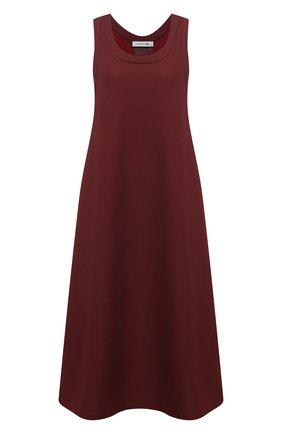 Женское платье-миди LACOSTE бордового цвета, арт. EF8138 | Фото 1