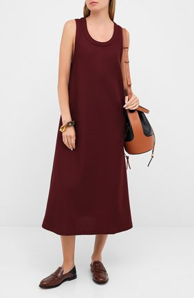 Женское платье-миди LACOSTE бордового цвета, арт. EF8138 | Фото 2