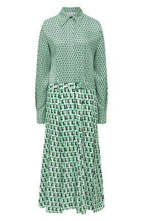 Женское платье с поясом LACOSTE зеленого цвета, арт. EF6641 | Фото 1