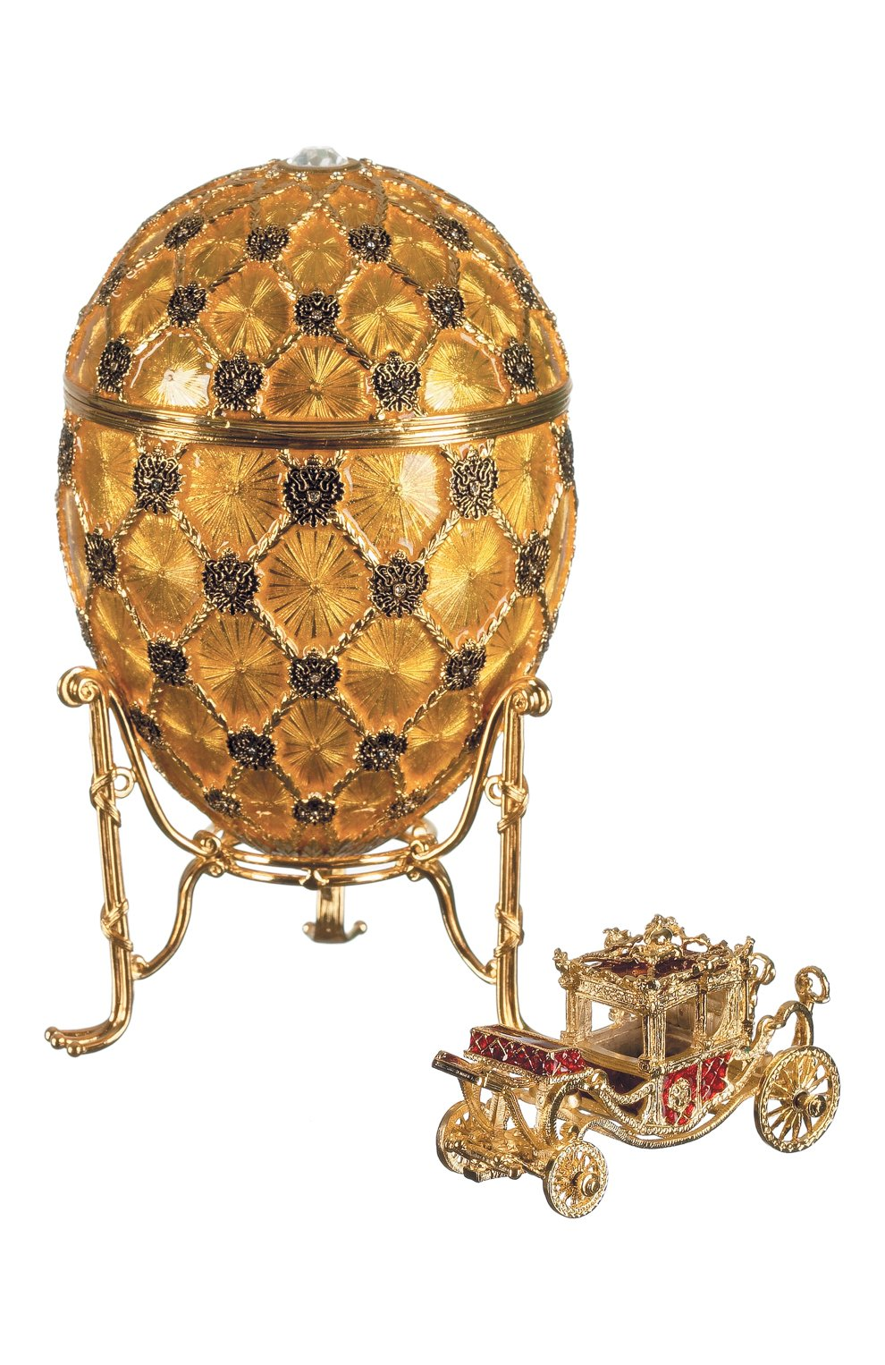 Мужского яйцо коронация FABERGE золотого цвета, арт. 49-Y   Фото 1