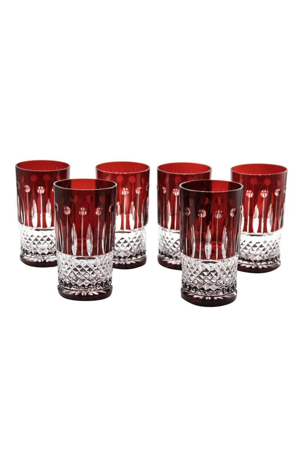 Мужского набор из 6-ти стаканов для сока xenia  FABERGE разноцветного цвета, арт. 530046R | Фото 1