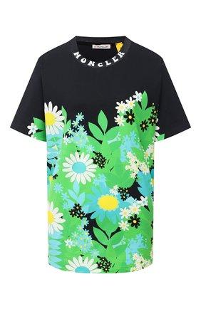 Женская хлопковая футболка 0 moncler richard quinn MONCLER GENIUS зеленого цвета, арт. F1-09F-8C704-10-829HF | Фото 1