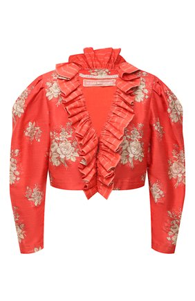 Женский шелковый жакет ULYANA SERGEENKO красного цвета, арт. GCC003SS20P (0769т20) | Фото 1