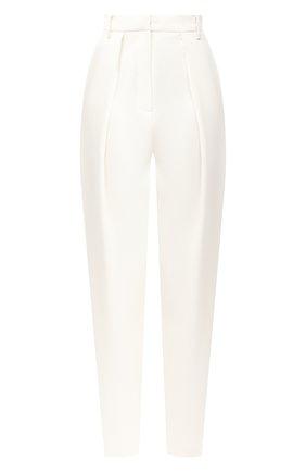 Женские брюки из шерсти и шелка MAGDA BUTRYM белого цвета, арт. 2215202307 | Фото 1