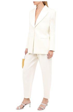 Женские брюки из шерсти и шелка MAGDA BUTRYM белого цвета, арт. 2215202307 | Фото 2