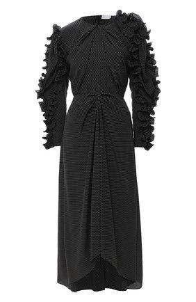 Женское шелковое платье MAGDA BUTRYM черного цвета, арт. 1855208007 | Фото 1
