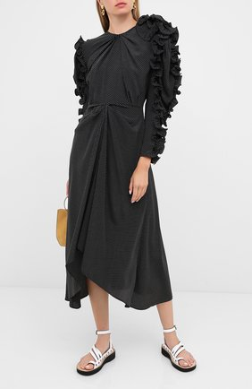 Женское шелковое платье MAGDA BUTRYM черного цвета, арт. 1855208007 | Фото 2