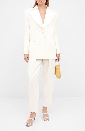 Женский жакет из шерсти и шелка MAGDA BUTRYM белого цвета, арт. 1305202307 | Фото 2